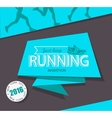 Running marathon and jogging emblem vector image