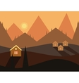 Seamless Cartoon Nature Evening Landscape vector image vector image