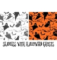 Seamless Halloween Pattern Ghosts vector image vector image