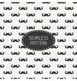 seamless retro pattern with curly vintage hipster vector image vector image