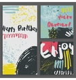 Set abstract greeting cards