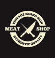 set of butchery labels badges and design vector image vector image