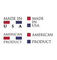 simple made in usa american product label text vector image vector image