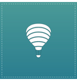 Sky balloon flat icon vector image