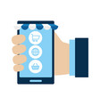smarphone device with ecommerce icons vector image vector image
