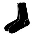 socks cartoon isolated vector image