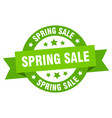 spring sale ribbon spring sale round green sign vector image vector image