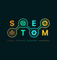 stem - education banner background vector image vector image