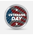 Veteran day badge vector image vector image