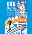 volleyball sport team beach tournament vector image vector image