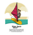 water sports infographic vector image