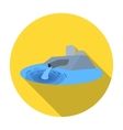 Water treatment plant icon in flat style isolated vector image