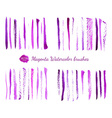 Watercolor brushes vector image vector image