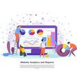 website analytics reports concept flat vector image