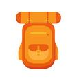 hiking backpacks icon vector image