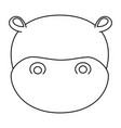 cute hippo character icon vector image