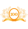 100th anniversary banner vector image vector image