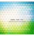 Abstract template background with triangle shapes vector image vector image