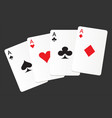 aces suit cards hearts clubs spades diamonds icon vector image