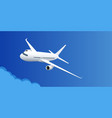 airplane in blue sky air travel vacation or vector image vector image