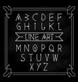 alphabet letters set modern vintage geometric vector image