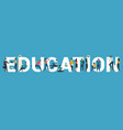 banner with word education vector image