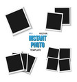 blank vintage photo frame mockup set isolated on vector image vector image