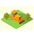 bulldozer heavy machine vector image