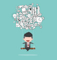 cartoon businessman swinging on business doodles vector image vector image