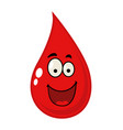 cartoon of a blood drop vector image