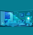 children bedroom furnishing flat moon shedding vector image vector image