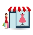 clothes woman buys gifts vector image vector image