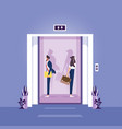 concept social distancing in elevator vector image