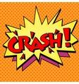 crash comic text bubble vector image vector image