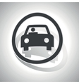 Curved car sign icon vector image