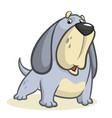 cute basset hound dog cartoon vector image vector image