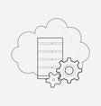 data management icon line element vector image