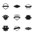 ensign icons set simple style vector image vector image