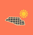 flat icon on stylish background solar panels vector image vector image