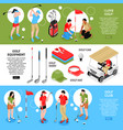 golf horizontal banners set vector image vector image