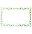 green antique floral frame vector image