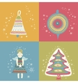 Happy New Year Christmas eve set vector image vector image