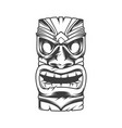 hawaiian traditional tribal tiki mask vector image