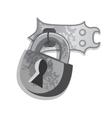 heavy padlock vector image
