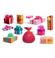 holidays gift boxes and presents vector image