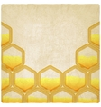 honeycomb old background vector image vector image