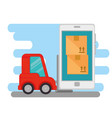 import free shipping with smartphone online vector image vector image