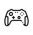 interactive kids video games gamepad icon vector image