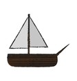 Isolated sailboat toy design vector image vector image