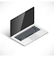 laptop isometric vector image vector image